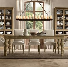The candle chandelier would be neat for a romantic dinner or having guests over