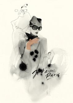 Awesome Fashion Illustrations by Cacilia Carlstedt @Janine Hardy Hardy Hardy Cornett lashkhi