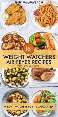 Looking for Healthy Air Fryer Recipes that are tasty and quick and easy to make? Each of the air fryer recipes in this collection are under 425 kcal, with most less than 350 kcal! But you'd never know it, since these easy air fryer recipes are SO deliciou Air Fryer Recipes Weight Watchers, Plats Weight Watchers, Weight Watchers Meals, Air Fryer Recipes Slimming World, Air Fryer Dinner Recipes, Air Fryer Oven Recipes, Air Fryer Recipes Chicken Wings, Air Fryer Recipes Gluten Free, Power Air Fryer Recipes