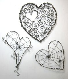 33 awesome wire crafts to do cool things . - 33 awesome wire crafts to do cool things … - Wire Crafts, Metal Crafts, Barbed Wire Art, Art Fil, I Love Heart, Diy Schmuck, Beads And Wire, Heart Art, Metal Art