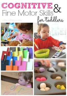 Great ideas to develop your little one's cognitive and fine motor skills