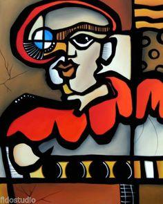 Captain Nemo Original Abstract Modern Pop Colorful Art Painting by FIDOSTUDIO   eBay