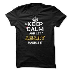 Keep calm and Let AHART Handle it TeeMaz - #anniversary gift #easy gift. GET  => https://www.sunfrog.com/Names/Keep-calm-and-Let-AHART-Handle-it-TeeMaz.html?id=60505