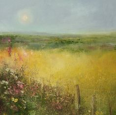 Hello! #CornwallHour... A new #Summer collection of paintings @MidCornwallGalleries #Fields #flowers #landscapes.