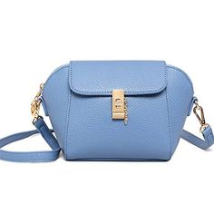CherryGoddy Litchi New Spring And Summer Wild Shoulder Diagonal Simple Handbag(SkyBlue) * Find out more about the great product at the image link.