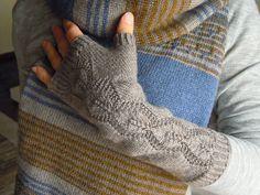 Ravelry: NatieKnits' Grey Goya wristers