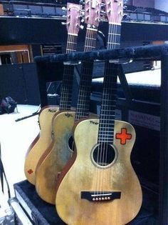 Ed Sheeran guitars...I love how he names them :)
