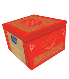 Red A Box Of Your Life Memories & Keepsake Large Collapsible Storage Box - Storage Boxes - Stationery Decorative Storage Boxes, Wimpy Kid, Tiffany Blue, Your Life, Stationery, Memories, Keepsakes, Red, Photographs