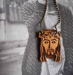 Jesus Necklace by Vectorcloud on Etsy