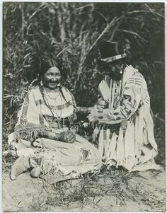 United Church of Canada Archives - Digital Collections | Blackfoot Indian man and woman