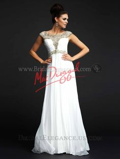 Midwest's Largest Bridal, Prom, and Pageant Store! Ivory Prom Dresses, Grad Dresses, White Wedding Dresses, Nice Dresses, Formal Dresses, Cleopatra Dress, Glamorous Dresses, Pageant Gowns, Wedding Dress Sleeves