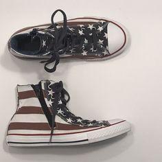 Converse Junior Size 5 Churck Taylor Americana High Top Sneaker  fashion   clothing  shoes 8b6061061