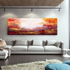Oversized Wall Art Modern Abstract Painting Home Decor image 9 Colorful Artwork, Colorful Paintings, Contemporary Paintings, Large Canvas Wall Art, Extra Large Wall Art, Abstract Landscape Painting, Abstract Canvas Art, Oversized Wall Art, Office Wall Art