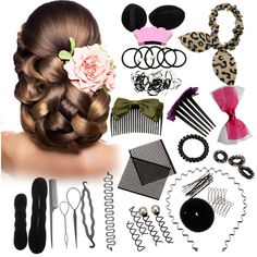 45PCS Hair Styling Kit LuckyFine Hair Accessories For Girls,Hairdresser Accessories,Magic Hair Clip Styling Pads Foam Sponge Bun Donut,Hairpins Accessory Tool >>> Read more at the image link. #hairdiva