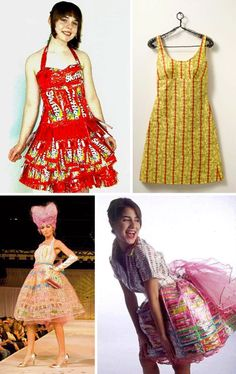 candy wrapper dresses...so cool