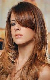corte de cabelo comprido liso e repicado 165x265