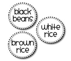 Round with black circle/dot outline.  Cute Free Label Download