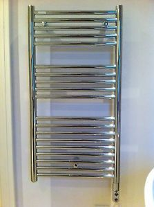 £95 Acova electric only thermostatic wall-mounted chrome ladder radiator   eBay