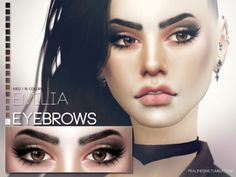 Emilia Eyebrows for The Sims 4