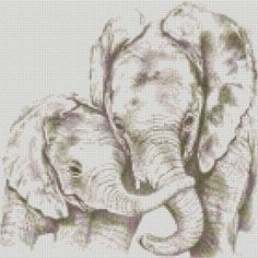 cross stitch kit elephant and baby - Folksy - would love to have this.