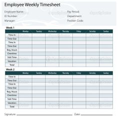 Weekly Time Record  Keepandshare  Homeschool Planning Tools