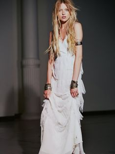 I want this as my wedding dress...its perfect 1 Free People Tiered Lace Maxi,