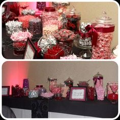 Wedding candy buffet!