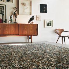 Brink & Campman Handgewebter Innenteppich Marble in Beige/Grau Dark Carpet, Modern Carpet, Carpet Styles, Texture Design, Luxury Interior, Home Depot, Wool Rug, Rug Size, Living Spaces