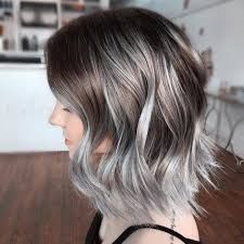 Image result for brown to silver ombre hair