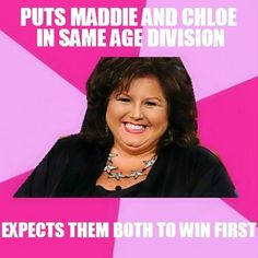 No you put them in the same age division and maddie wins because abby gives her better coryography than chloe but if chloe got the same choryograpy that maddie does chloe would win every time!!! Chloe is so much better than Maddie but abby treats chloe like dust written by Megan Ann