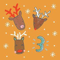 Day 3 - Advent 2016 - Lisa Barlow (Milk & Honey Studio) Countdown Calendar, Advent Calendar, Milk And Honey, Insta Art, Reindeer, Christmas Time, Advent 2016, Homemade, Instagram Posts