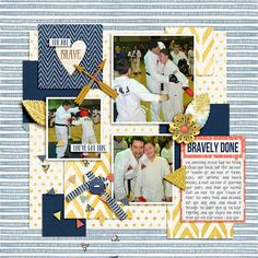You Are Brave Kit: Be Brave Papers, Elements, and Journal Cards by KimB Designs
