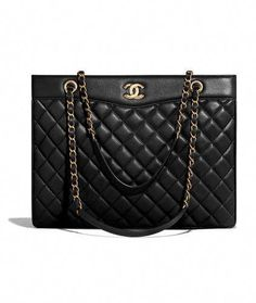 d88acaaa841a Handbags of the {collectionName} CHANEL Fashion collection : Large Shopping  Bag, lambskin & gold-tone metal, black on the CHANEL official website.