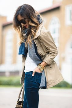 Trench & scarf