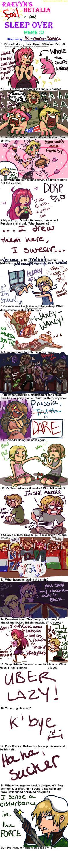 Hetalia Sleepover Meme by Ki-chain-Sakura on deviantART