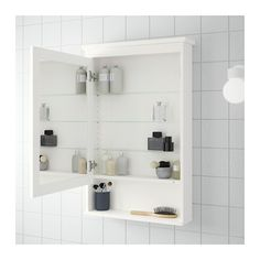HEMNES Mirror cabinet with 1 door, white white 24 3/4x6 1/4x38 5/8