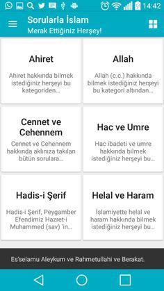 sorularla islam android uygulamasına ait ana ekran görüntüsüdür.