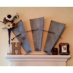 Windmill blade centerpiece for mantle- Dash of Flair Boutique!