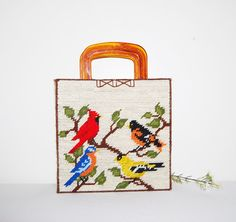 Vintage Handbag Birds on The Vine by CheekyVintageCloset on Etsy, $22.00