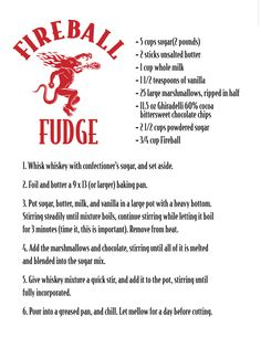 Fireball Fudge!
