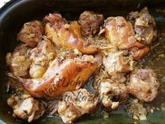 Recept Králík s vepřovými výpečky na černém pivu - Naše Dobroty na každý den | Recepty online Turkey, Meat, Chicken, Food, Turkey Country, Essen, Meals, Yemek, Eten