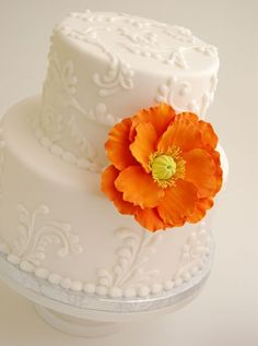 $50 Made to Order Large Clay Poppy Cake Flower