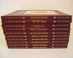 10 THE AMERICAN INDIAN Time Life Series Hard Cover Illustrated Books 1992-93-94