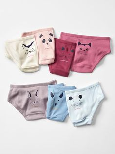 Days-of-the-week critter underwear (7-pack)