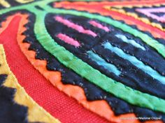 Finish Along Quarter 1 Tutorial Week - Mola Style Applique With Amanda Millar - The Littlest Thistle