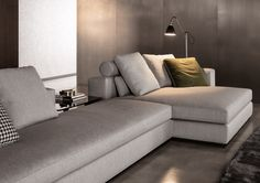 Italian design industry giant Minotti, a company founded in the by Alberto Minotti, continues to endure at the forefront of Italy's gargantuan Sofa Design, Sofa Furniture, Furniture Design, Winter Bedroom, Cozy Office, Beautiful Sofas, Style Tile, Contemporary Furniture, Home Decor
