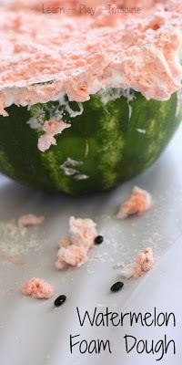 How to make foam dough that smells just like a watermelon - SUMMER FUN RECIPE FOR PLAY!