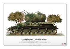 Flakpanzer IV Wirbelwind, Normandy 1944 - pin by Paolo Marzioli Panzer Iv, Self Propelled Artillery, Ww2 Posters, Military Drawings, Armoured Personnel Carrier, Military Armor, Armored Fighting Vehicle, Ww2 Tanks, World Of Tanks