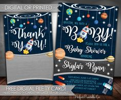 outer space baby shower invitation planet baby shower invitation outer space baby sprinkle invitation
