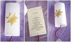 Disney Tangled Rapunzel Lantern Invitations